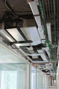 Instalacion interior con unidades por departamento